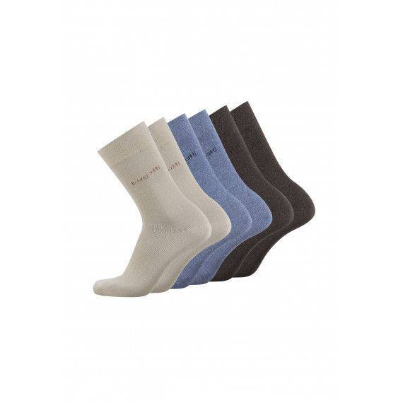 6er Pack Socken in Beige