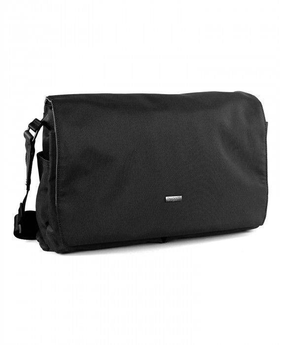 Messengerbag in Schwarz