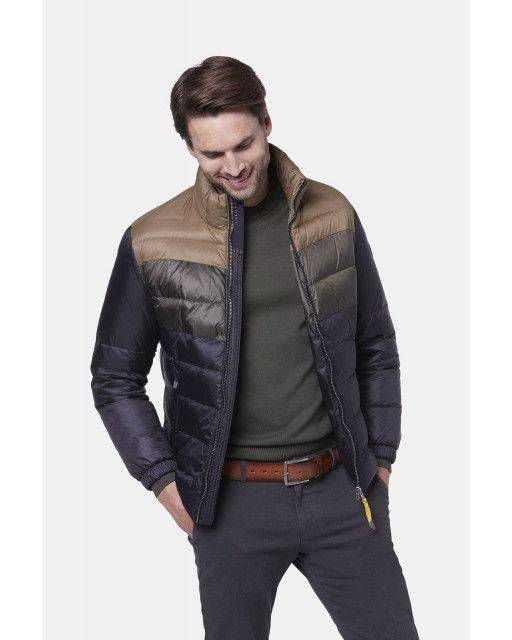 Steppblouson in Grau