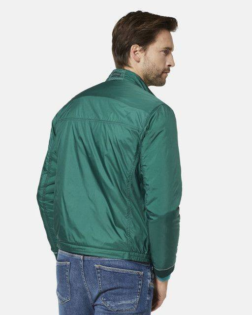 Bomber jacket in moss green
