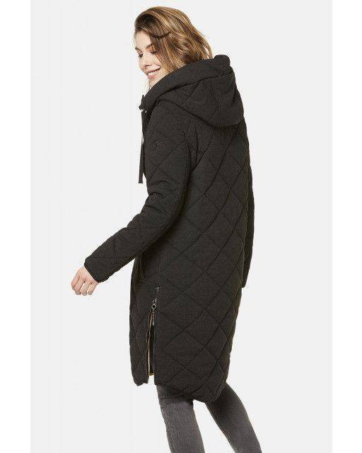 Quilted parka in dark grey