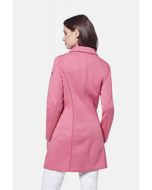Neoprene coat in pink