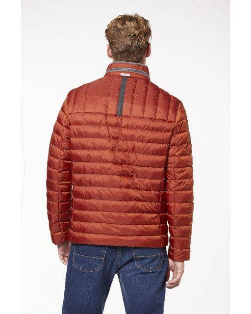 Quilted jacket in orange