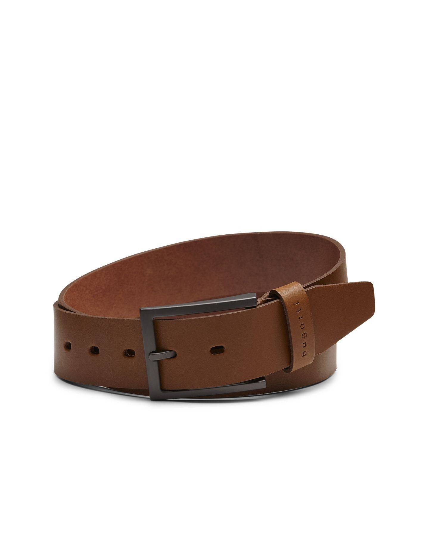 Leather Belt In Cognac Official