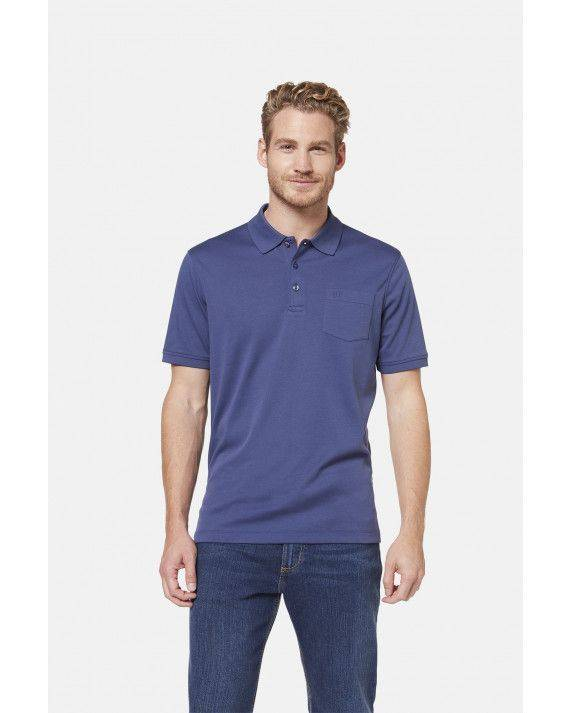 Polo-Shirt in Mittelblau