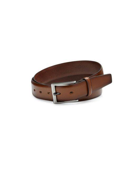 Leather belt in cognac
