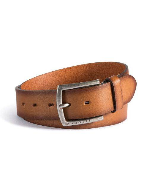 Leather belt in hazelnut