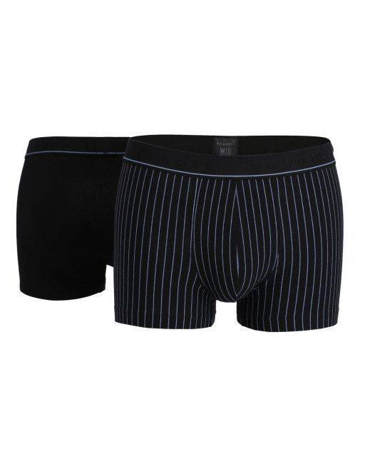 Two-pack of pants in black