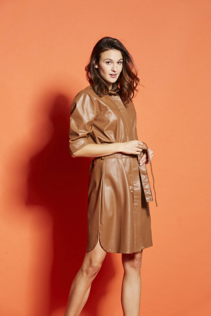 Dress in brown