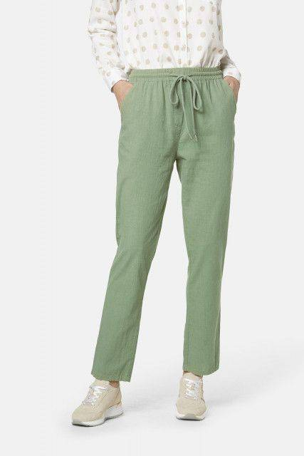 Ladies' trousers in olive