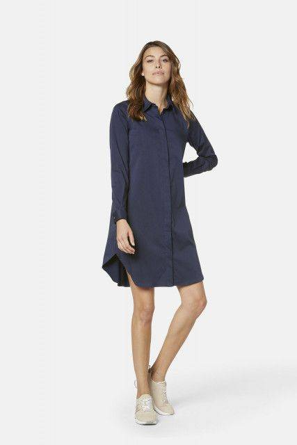 Shirt dress in navy blue