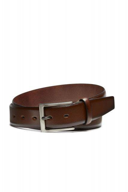 Leather belt in medium brown