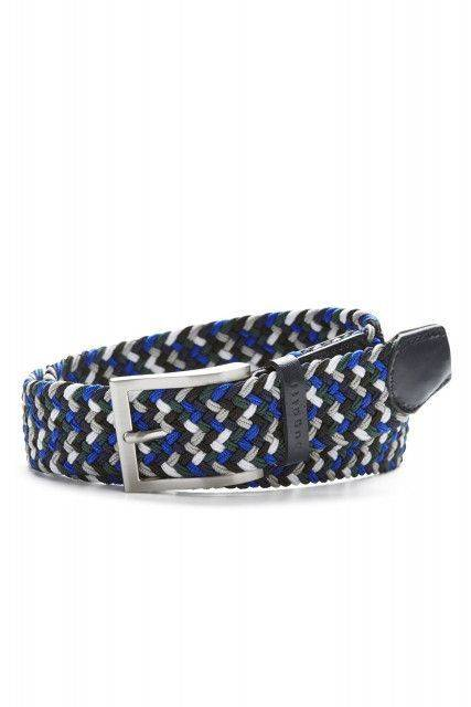 Textile strap belt in blue