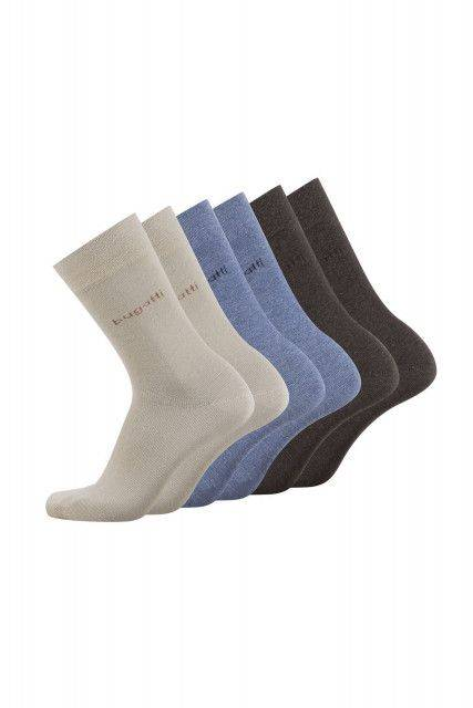 6-pack socks in beige
