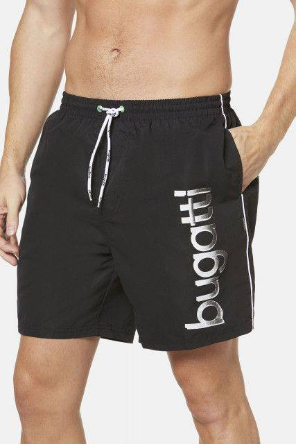 Long swim trunks in black
