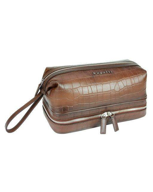 Toiletry bag in brown