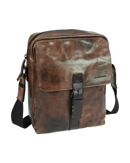 Shoulder bag in brown