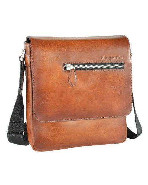 Shoulder bag in cognac