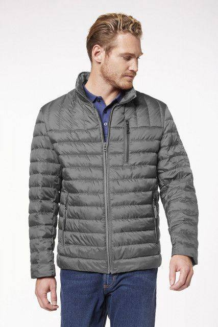 Quilted jacket in grey