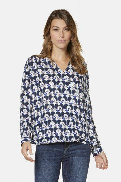 Blouse in dark blue