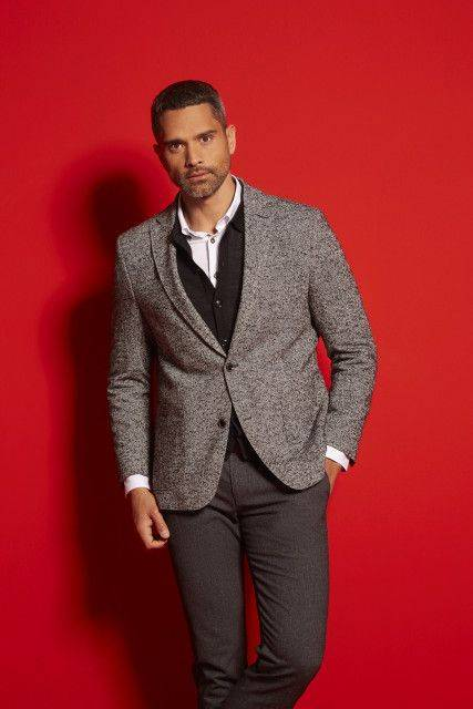 Sports jacket in dark grey