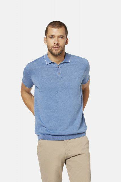 Polo shirt in light blue