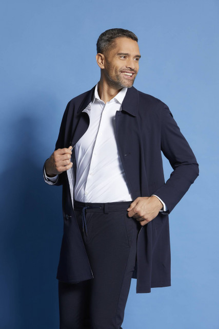Reversible coat in navy