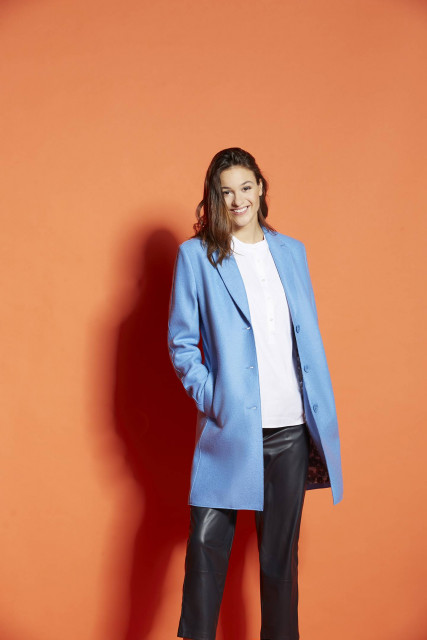 Coat in light blue