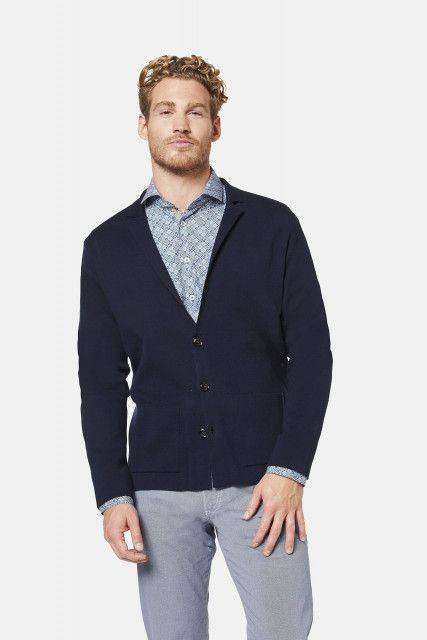Knit jacket in blue