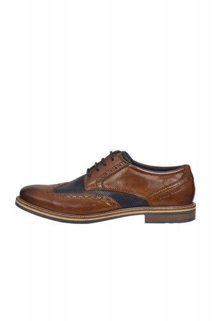 Lace-up shoes in cognac