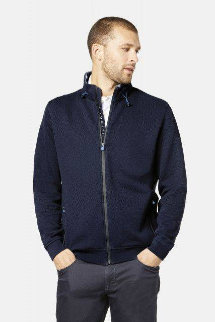 Sweat jacket in dark blue