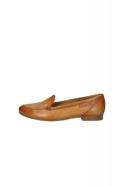 Slippers in Cognac brown