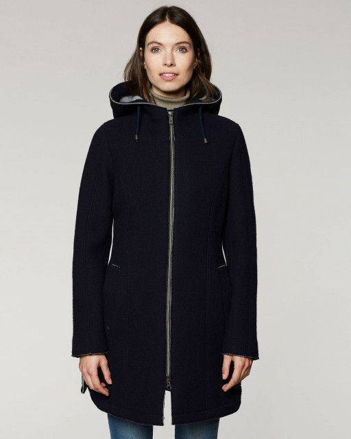 Hooded jacket in navy blue