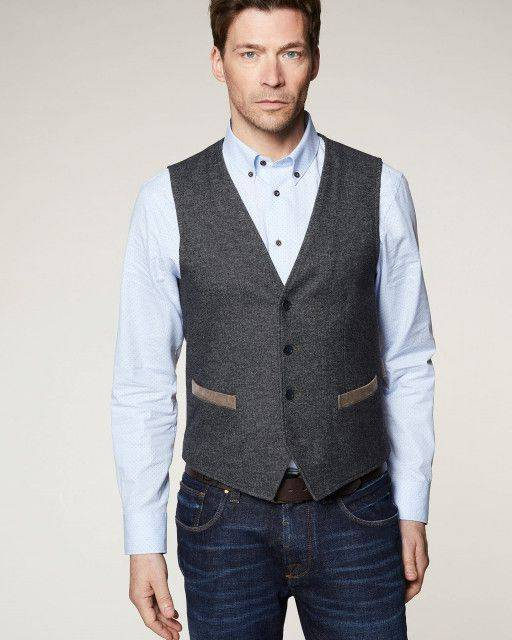 Business vest in dark grey