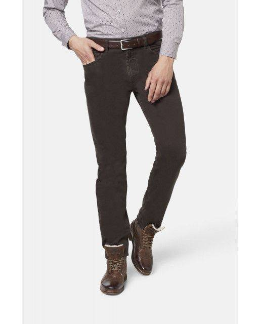 Five-pocket trousers in brown