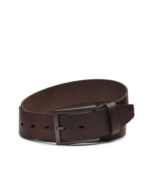 Leather belt in red brown