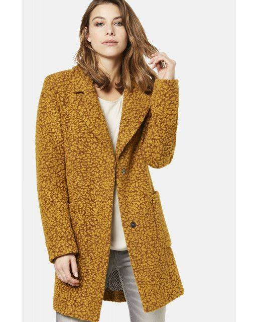 Wool jacket in brass